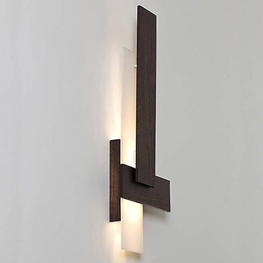 Sedo LED Sconce - Dark Stained Walnut Finish