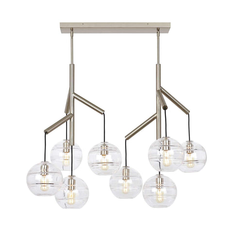 Sedona Double LED Chandelier Satin Nickel