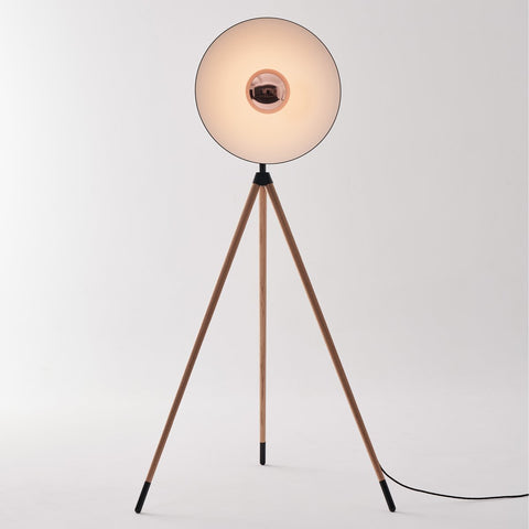 Apollo Floor Lamp - Matte Black/Copper Finish