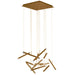 Seesaw 13-Light Chandelier - Brushed Champagne Finish