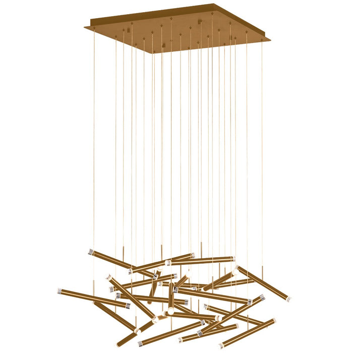 Seesaw 25-Light Chandelier - Brushed Champagne Finish