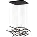 Seesaw 25-Light Chandelier - Satin Dark Gray Finish