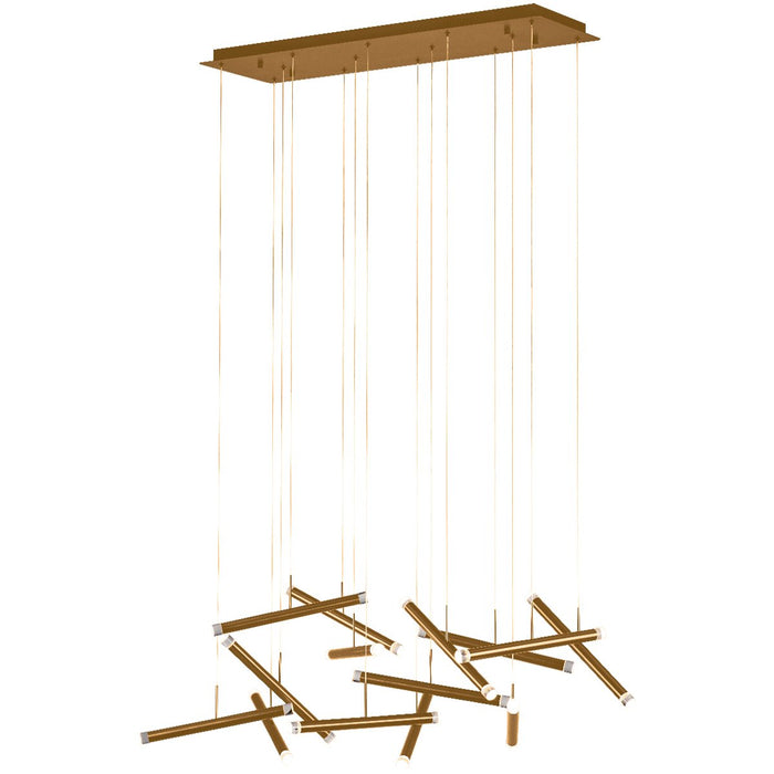 Seesaw Linear Suspension - Brushed Champagne Finish