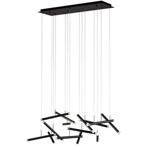 Seesaw Linear Suspension - Satin Dark Gray Finish