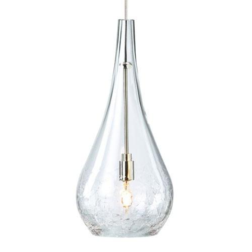 FJ SEGURO PENDANT - Clear/Satin Nickel Finish