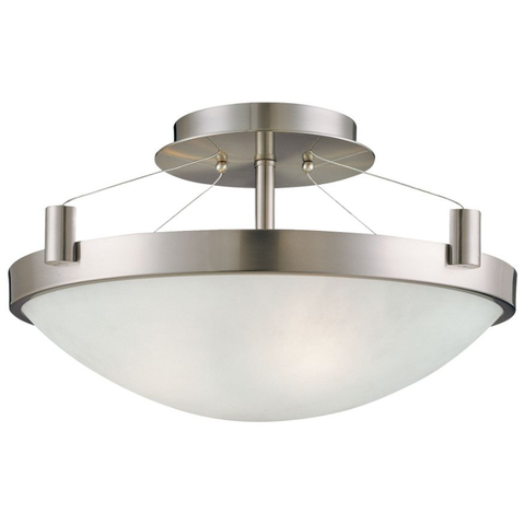 Semi Flush Ceiling Light - P591 Brushed Nickel