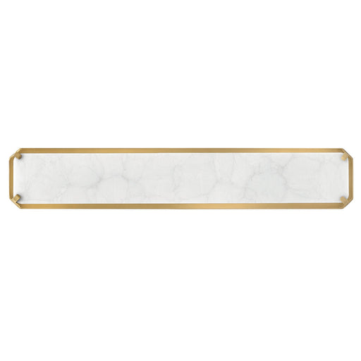 Serene Large LED Bath Bar - Heritage Brass Finish