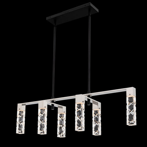 Serres LED Linear Suspension - Polished Chrome/Matte Black Finish