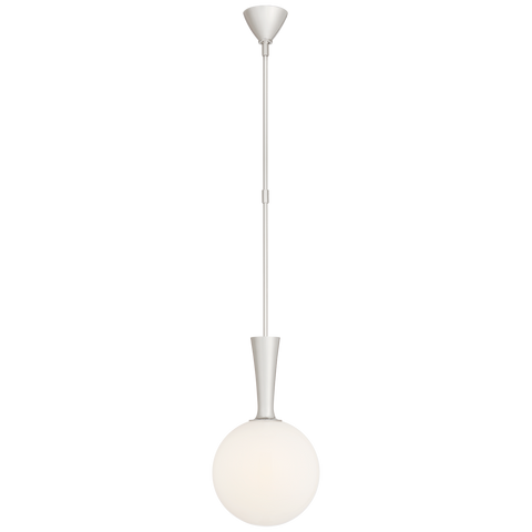 Sesia Small Globe Pendant - Polished Nickel Finish
