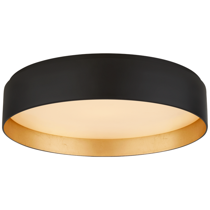 Shaw Large Flush - Matte Black/Gild Finish