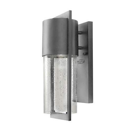 Shelter Outdoor Small Wall Sconce - Hematite