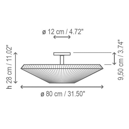 Siam 01 Ceiling Light - Diagram