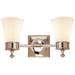 Siena Double Sconce - Polished Nickel Finish