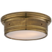 Siena Large Flush Mount - Hand-Rubbed Antique Brass Finish
