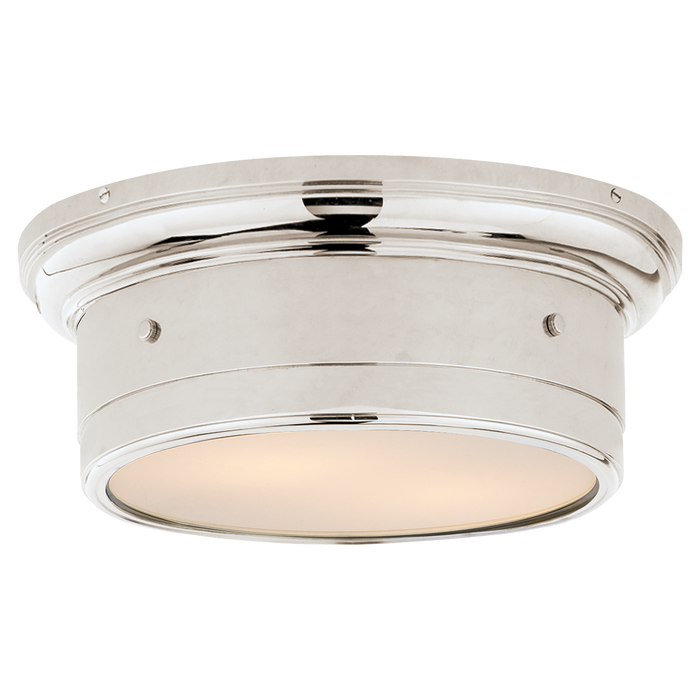 Siena Small Flush Mount - Polished Nickel Finish