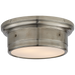 Siena Small Flush Mount - Antique Nickel Finish