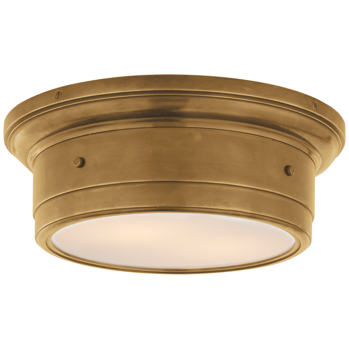 Siena Small Flush Mount - Hand-Rubbed Antique Brass Finish
