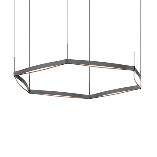 Single Ring LED Pendant - Satin Black