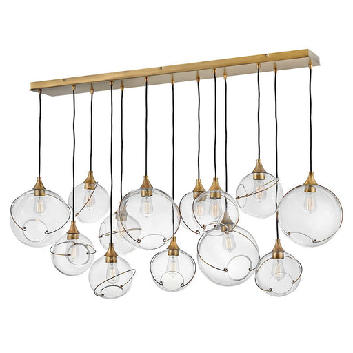 Skye Linear Suspension - Heritage Brass Finish