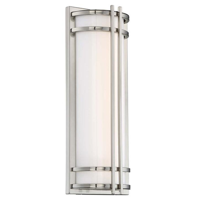 "Skyscraper 18"" LED Outdoor Wall Light - Stainless Steel Finish"