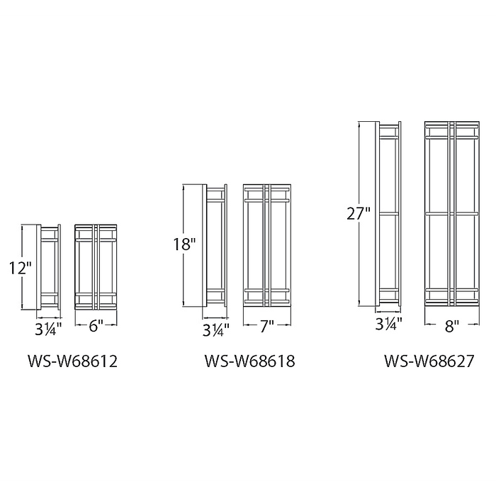 Skyscraper LED Outdoor Wall Light - Diagram