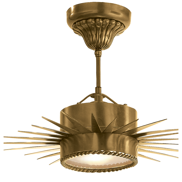 Soleil Semi-Flushmount - Hand-Rubbed Antique Brass