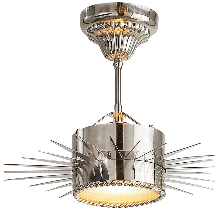 Soleil Semi-Flushmount - Polished Nickel