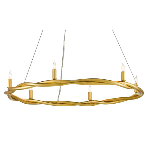 Soliloquy Chandelier - Gold Leaf Finish