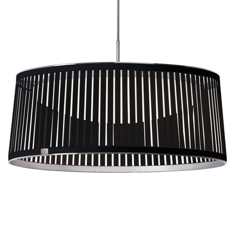 "Solis 24"" Drum LED Pendant Light Black"