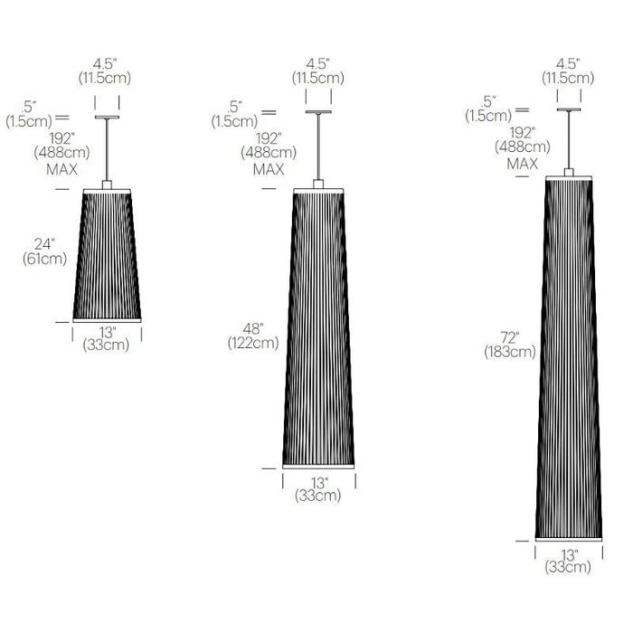 Solis Pendant Light - Diagram