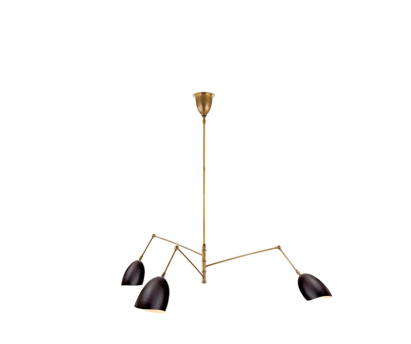 Sommerard Large Triple Arm Chandelier - Black