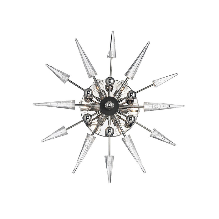 Sparta Wall Sconce - Polished Nickel Finish with Clear Glass