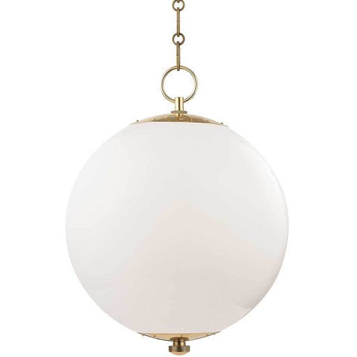Sphere No. 1 Pendant - Aged Brass (Large)