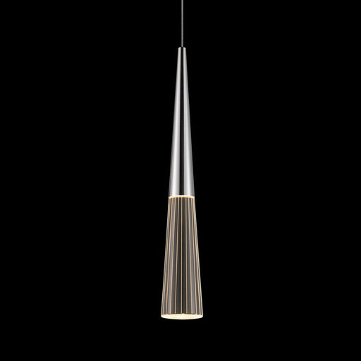Spire Round Canopy LED Pendant Light - Polished Chrome