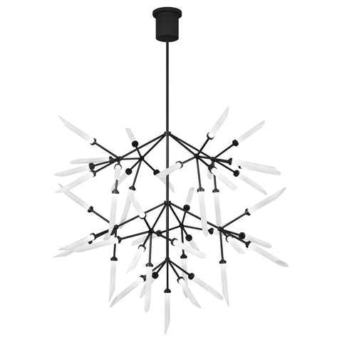 Spur Grande LED Chandelier - Matte Black