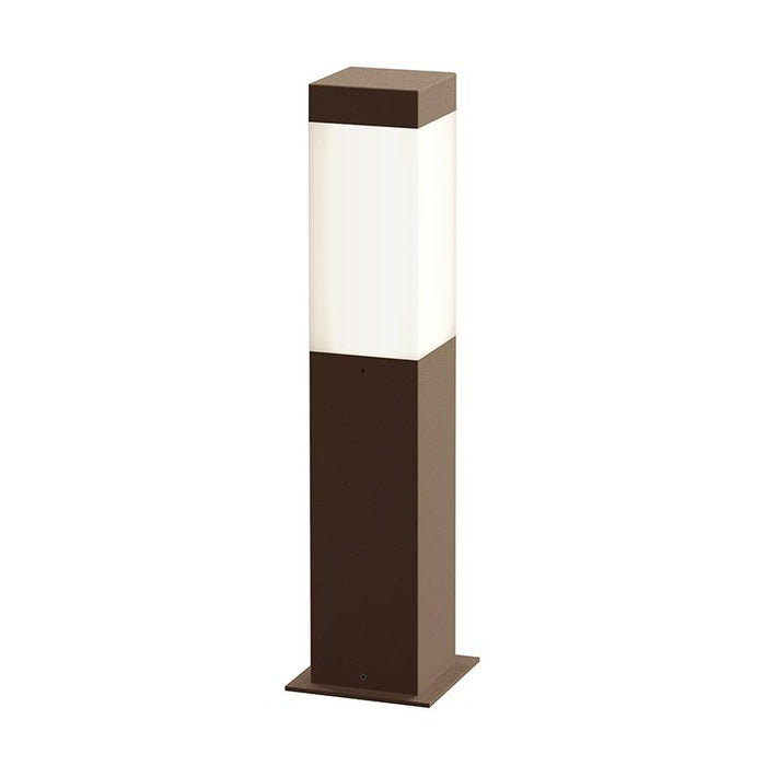 "Square Column 16"" Outdoor LED Bollard - Textured Bronze Finish"