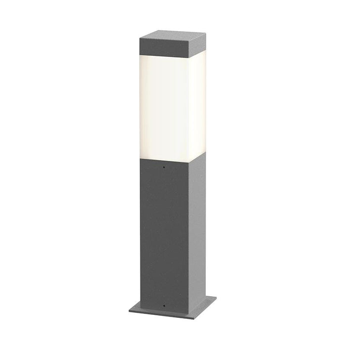 "Square Column 16"" Outdoor LED Bollard - Textured Gray Finish"