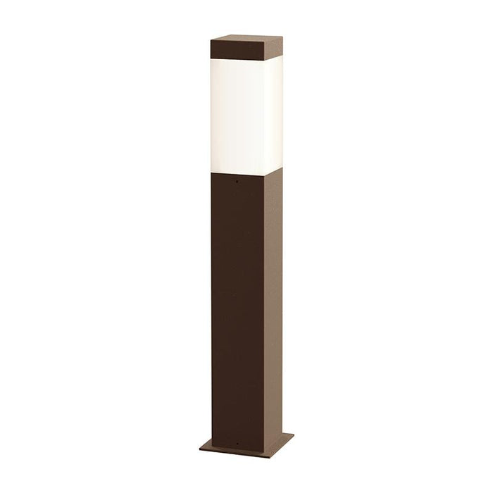 "Square Column 22"" Outdoor LED Bollard - Textured Bronze Finish"