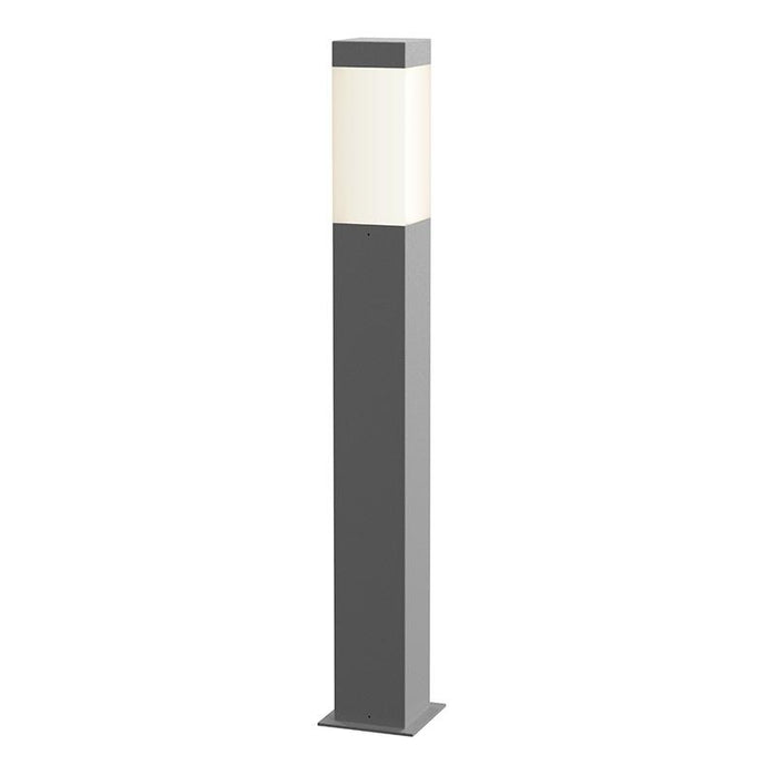 "Square Column 28"" Outdoor LED Bollard - Textured Gray Finish"