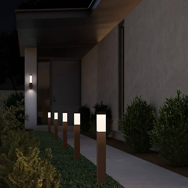 Square Column Outdoor LED Bollard - Display