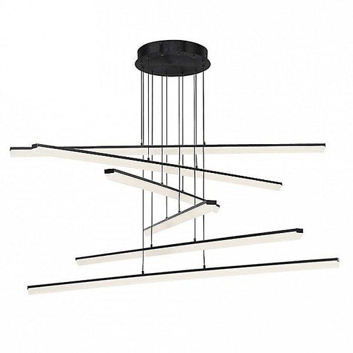 Stack LED 6-Light Pendant - Black