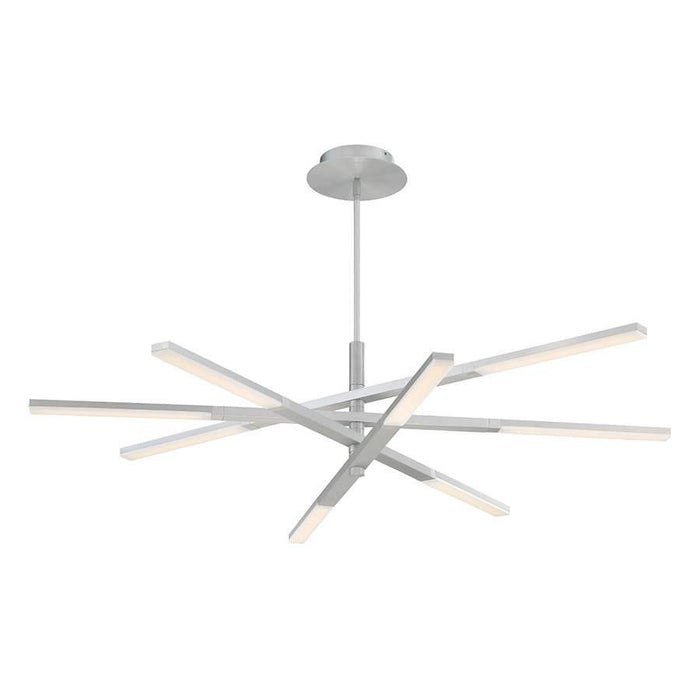 Stacked LED Chandelier -  Brushed Aluminum Finish