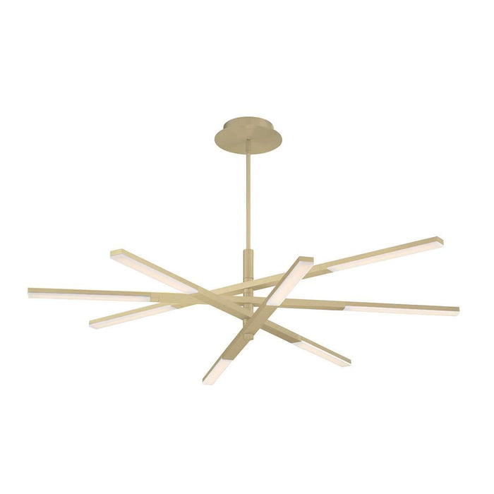 Stacked LED Chandelier - Brushed Brass Finish