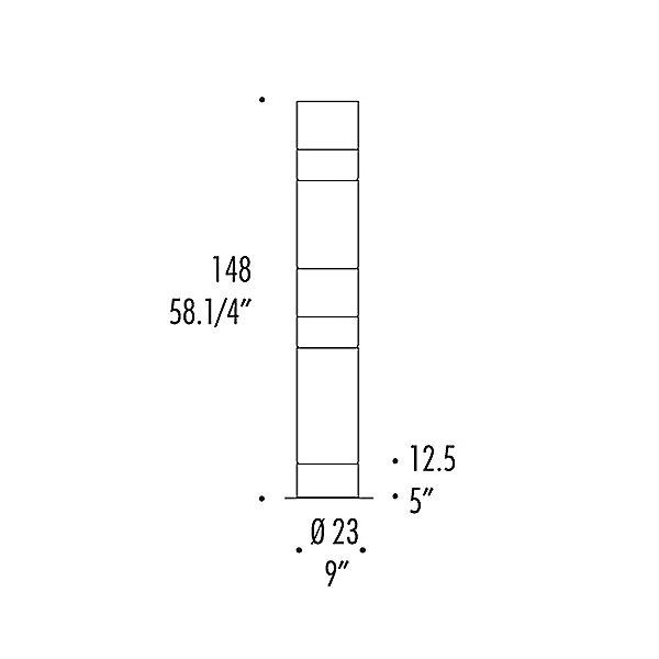 Stacking D Floor Lamp - Diagram