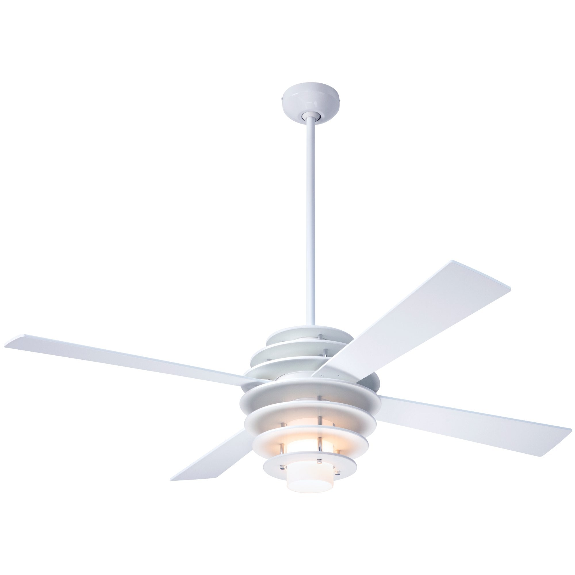 ab09ea34203 Modern Fan Co. Stella Ceiling Fan - White Gloss White