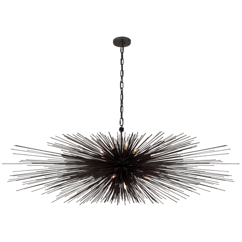 Strada Large Linear Chandelier - Aged Iron