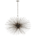 Strada Medium Oval Pendant - Silver Leaf