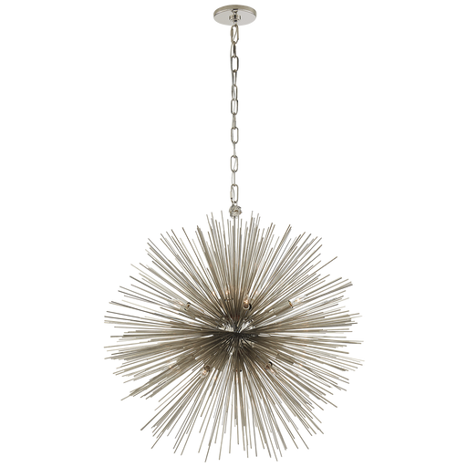 Strada Medium Round Chandelier - Polished Nickel
