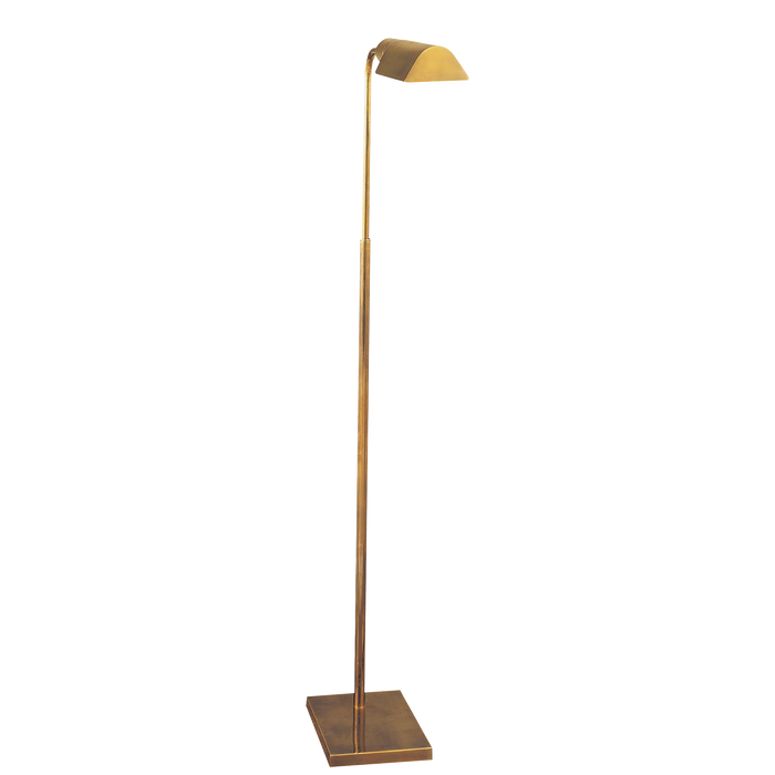 Studio Adjustable Floor Lamp - Hand Rubbed Antique Brass Finish