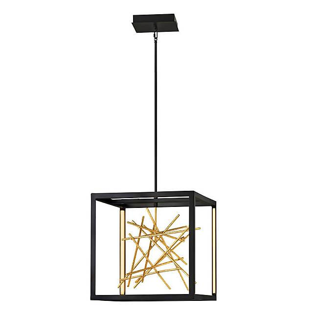 Styx LED Pendant - Black/Gilded Gold Finish